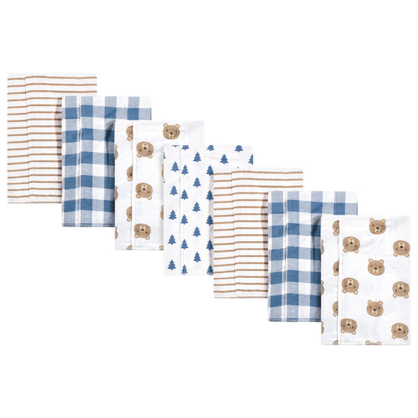 Hudson Baby Cotton Flannel Burp Cloths, Little Bear