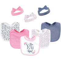 Hudson Baby Cotton Bib and Headband or Caps Set, Beyoutiful