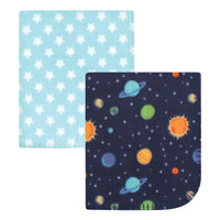Hudson Baby Fleece Blankets, Solar System, One Size