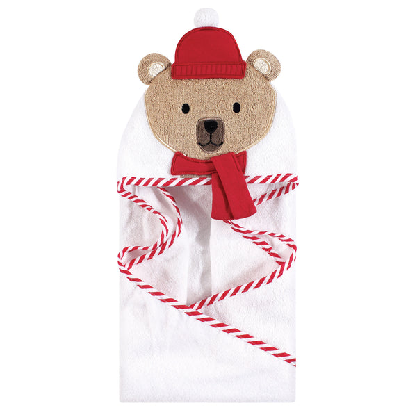 爱游戏下注|爱游戏棋牌|爱游戏app下载 Baby Cotton Animal Face Hooded Towel, Bear W Scarf