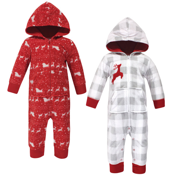 Hudson Baby Fleece Jumpsuits, Coveralls, and Playsuits, Santas Sleigh Baby