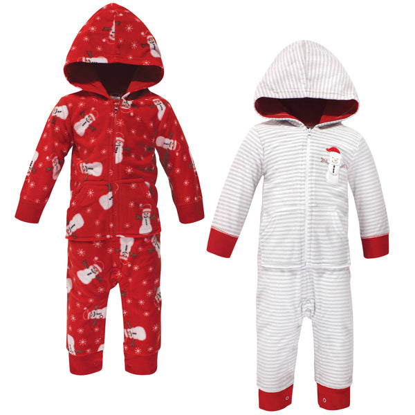Hudson Baby Fleece Jumpsuits, Coveralls, and Playsuits, Santa Snowman Baby