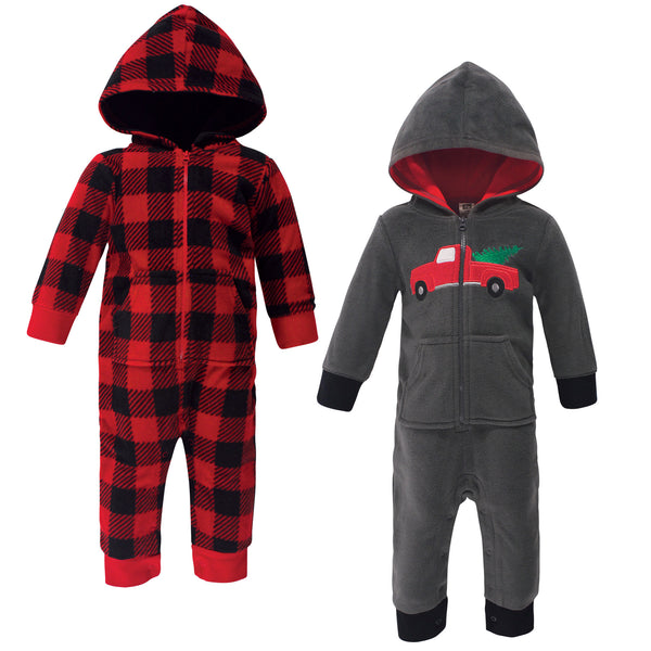 Hudson Baby Fleece Jumpsuits, Coveralls, and Playsuits, Christmas Tree Baby