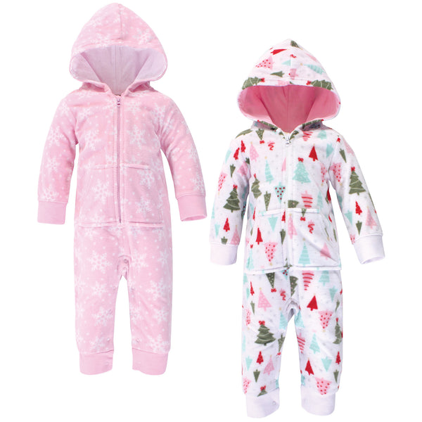 Hudson Baby Fleece Jumpsuits, Coveralls, and Playsuits, Sparkle Trees Baby
