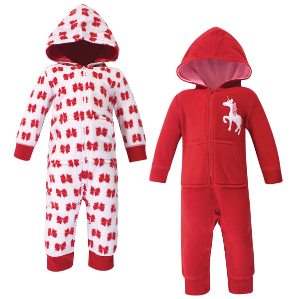 Hudson Baby Fleece Jumpsuits, Coveralls, and Playsuits, Christmas Unicorn Baby