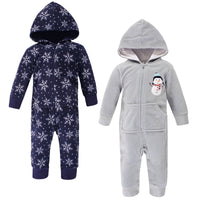 Hudson Baby Fleece Jumpsuits, Coveralls, and Playsuits, Navy Snowman Baby
