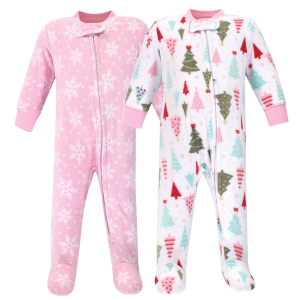 Hudson Baby Fleece Sleep and Play, Sparkle Trees