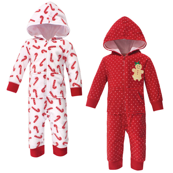 Hudson Baby Fleece Jumpsuits, Coveralls, and Playsuits, Sugar Spice Baby