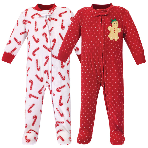 Hudson Baby Fleece Sleep and Play, Sugar Spice