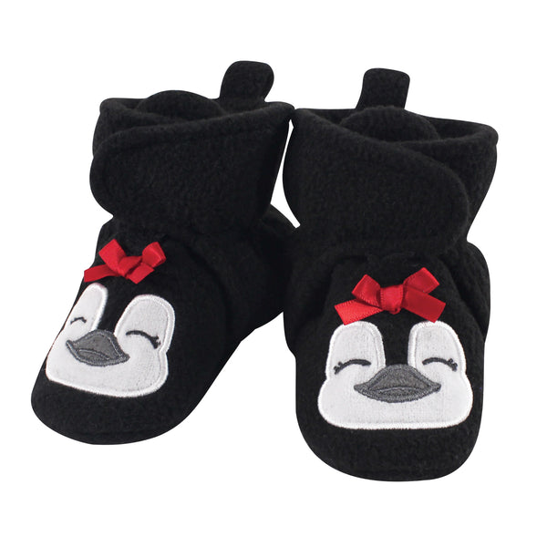 Hudson Baby Cozy Fleece Booties, Girl Penguin