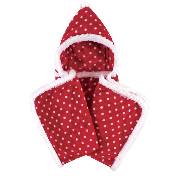 爱游戏下注|爱游戏棋牌|爱游戏app下载 Baby Hooded Animal Face Plush Blanket, Red Polka Dot
