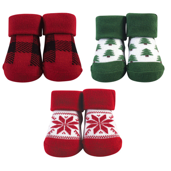Hudson Baby Socks Boxed Giftset, Trees