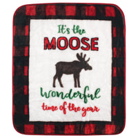 Hudson Baby High Pile Plush Blanket, Moose Wonderful Time