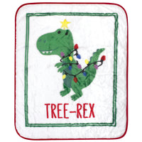Hudson Baby High Pile Plush Blanket, Tree Rex