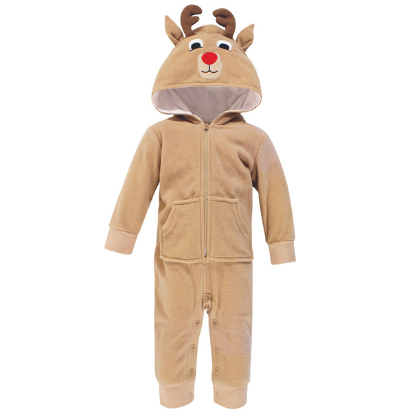 Hudson Baby Fleece Jumpsuits, Coveralls, and Playsuits, Reindeer Baby