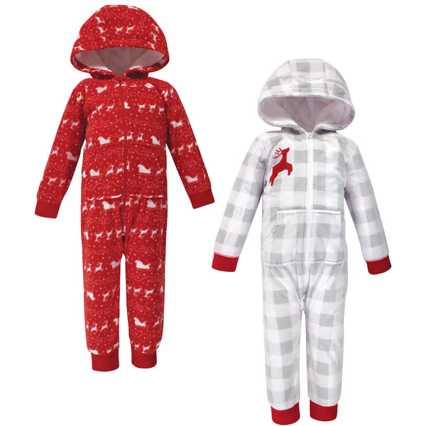 Hudson Baby Fleece Jumpsuits, Coveralls, and Playsuits, Santas Sleigh Toddler