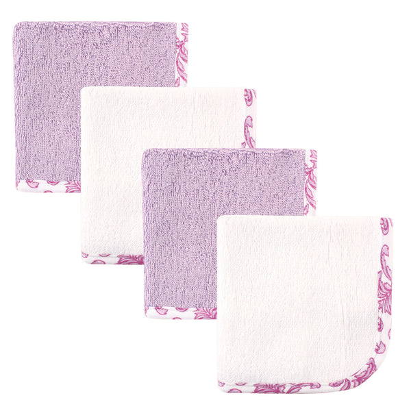 Hudson Baby Super Soft Cotton Washcloths, Brocade