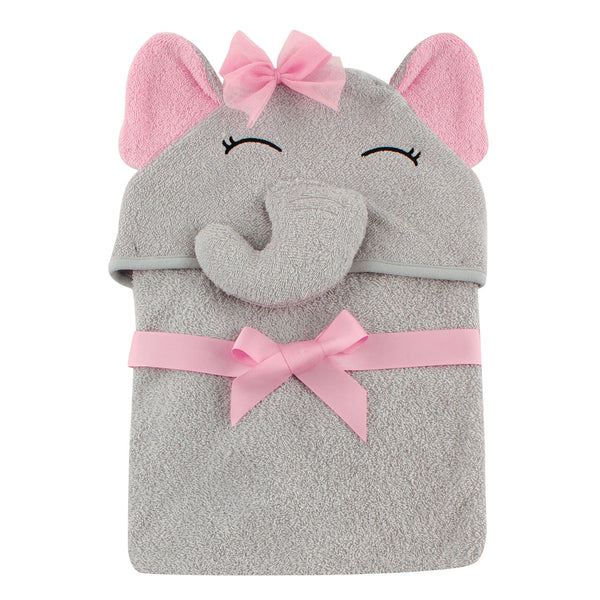 爱游戏下注|爱游戏棋牌|爱游戏app下载 Baby Cotton Animal Face Hooded Towel, Pretty Elephant