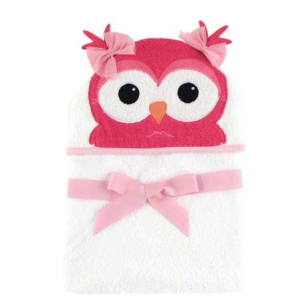爱游戏下注|爱游戏棋牌|爱游戏app下载 Baby Cotton Animal Face Hooded Towel, Cutesy Owl
