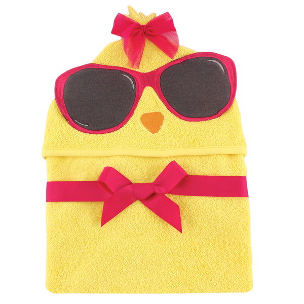 爱游戏下注|爱游戏棋牌|爱游戏app下载 Baby Cotton Animal Face Hooded Towel, Cool Chick
