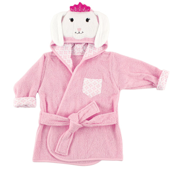 Hudson Baby Cotton Animal Face Bathrobe, Princess Bunny
