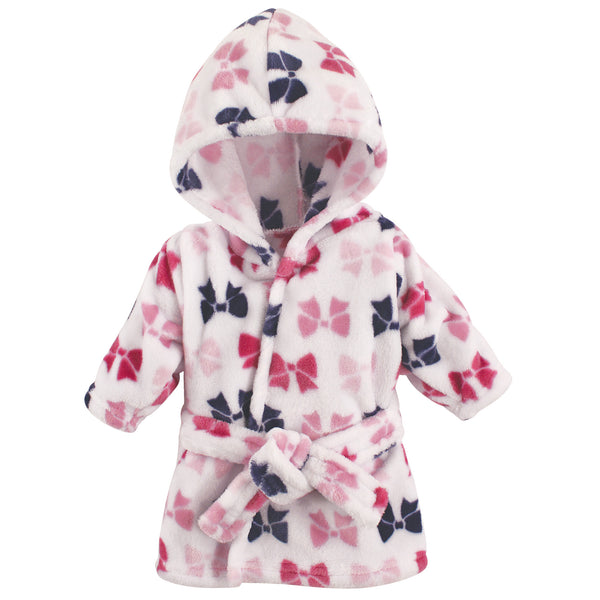 Hudson Baby Plush Animal Face Bathrobe, Bows