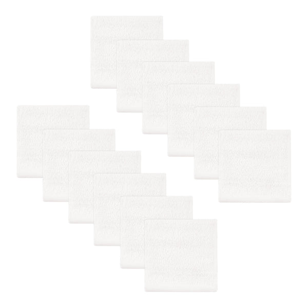 Hudson Baby Cotton Bundle Washcloths, Basic White 12-Pack