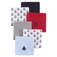 Hudson Baby Super Soft Cotton Washcloths, Sailboat