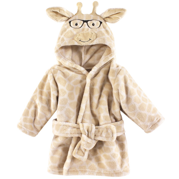 Hudson Baby Plush Animal Face Bathrobe, Nerdy Giraffe
