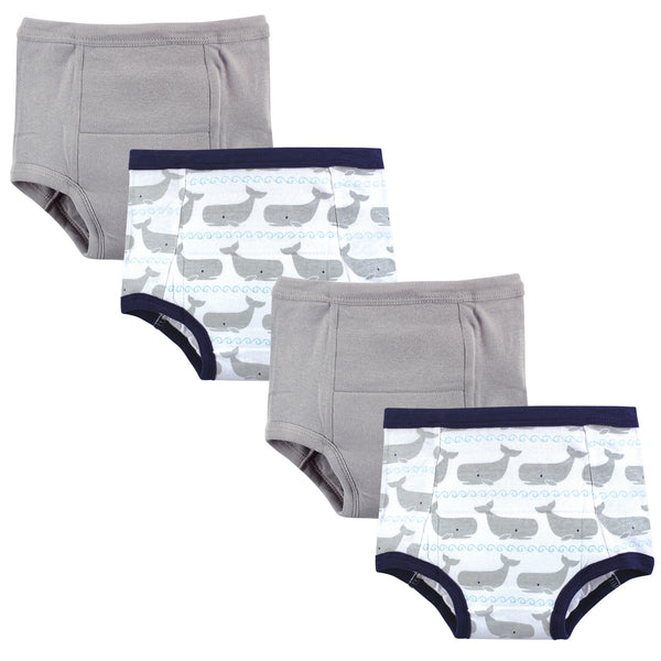 Hudson Baby Cotton Training Pants, Whales