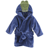 Hudson Baby Plush Animal Face Bathrobe, Alligator