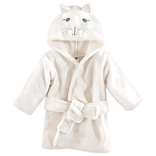 Hudson Baby Plush Animal Face Bathrobe, Kitty
