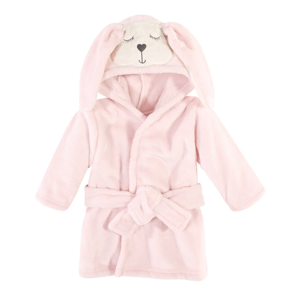 Hudson Baby Plush Animal Face Bathrobe, Modern Bunny