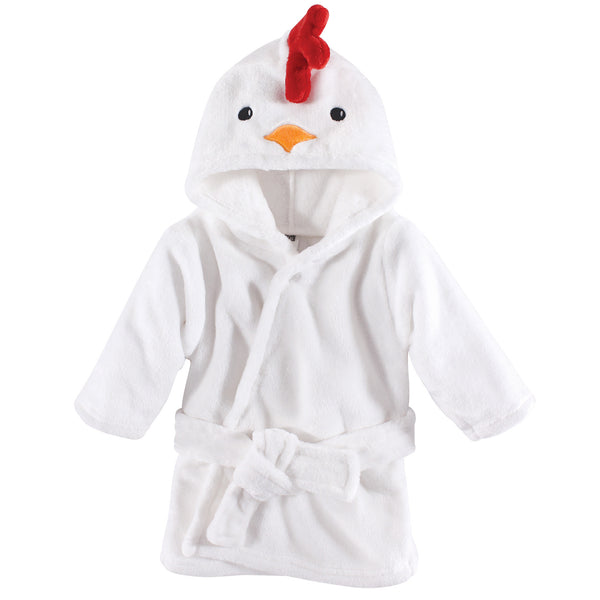 Hudson Baby Plush Animal Face Bathrobe, Chicken