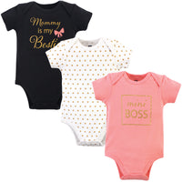 Hudson Baby Cotton Bodysuits, Mini Boss