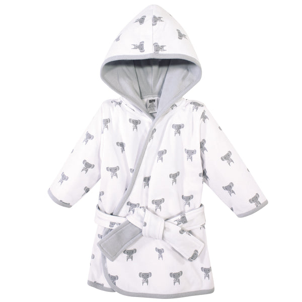 Hudson Baby Cotton Rich Bathrobe, Modern Elephant