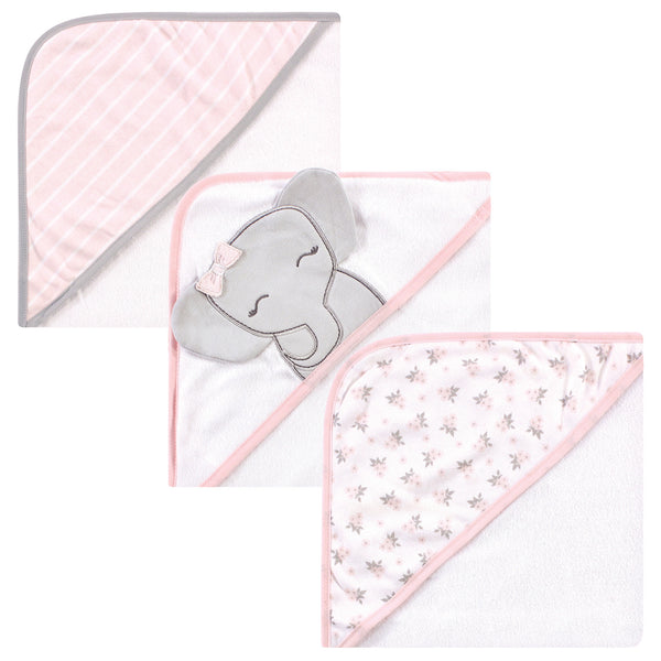 Hudson Baby Cotton Rich Hooded Towels, Cute Elephant