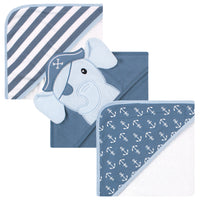 Hudson Baby Cotton Rich Hooded Towels, Pirate Elephant, One Size