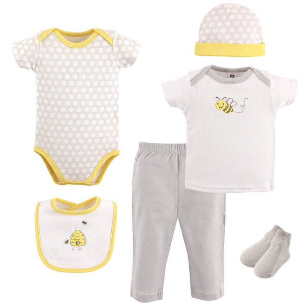 Hudson Baby Layette Boxed Giftset, Bee