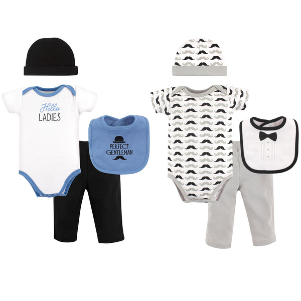 Hudson Baby Layette Boxed Giftset, Perfect Gentleman