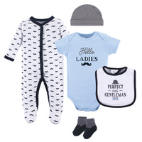 Hudson Baby Cotton Layette Set, Blue Little Gentleman
