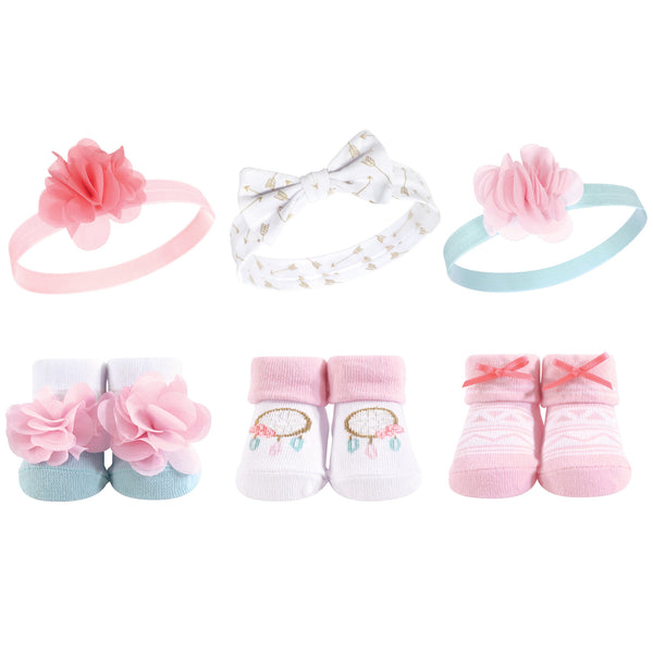 Hudson Baby Headband and Socks Giftset, Dream Catcher