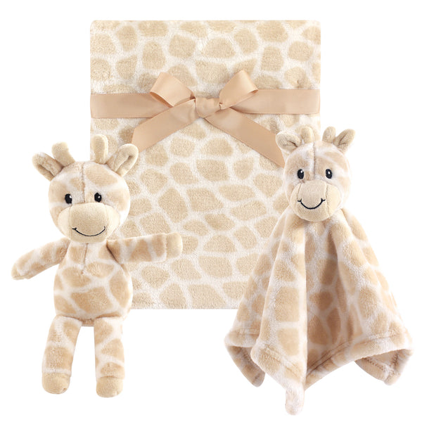 Hudson Baby Plush Blanket, Security Blanket and Toy Set, Giraffe