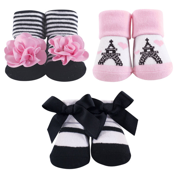 Hudson Baby Socks Boxed Giftset, Paris