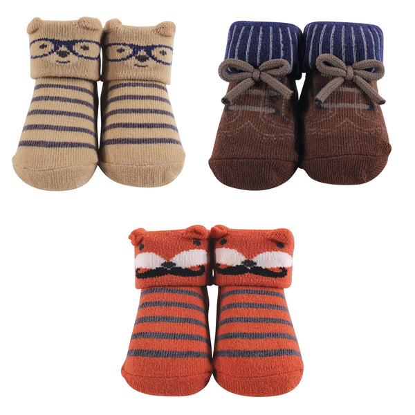 Hudson Baby Socks Boxed Giftset, Handsome Fox