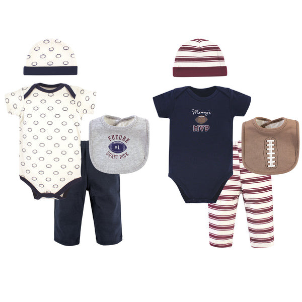 Hudson Baby Layette Boxed Giftset, Blue Football