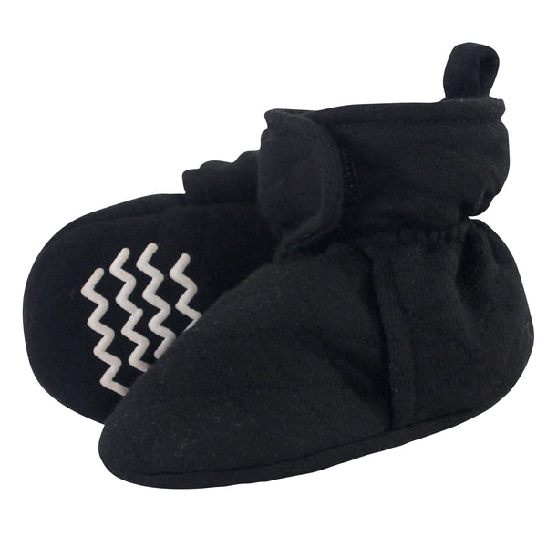 Hudson Baby Quilted Booties, Black
