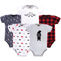 Hudson Baby Cotton Bodysuits, Baby Bear