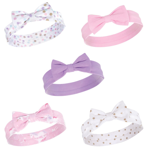 Hudson Baby Cotton and Synthetic Headbands, Magical Unicorn