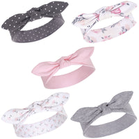Hudson Baby Cotton and Synthetic Headbands, Pink Floral